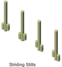 Stiding stilts